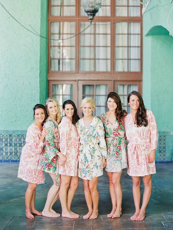 These silky robes are classic, sophisticated and something your ladies will feel beautiful in while getting ready on your wedding day and beyond.